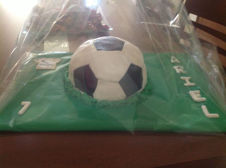 Pelota fútbol fondant