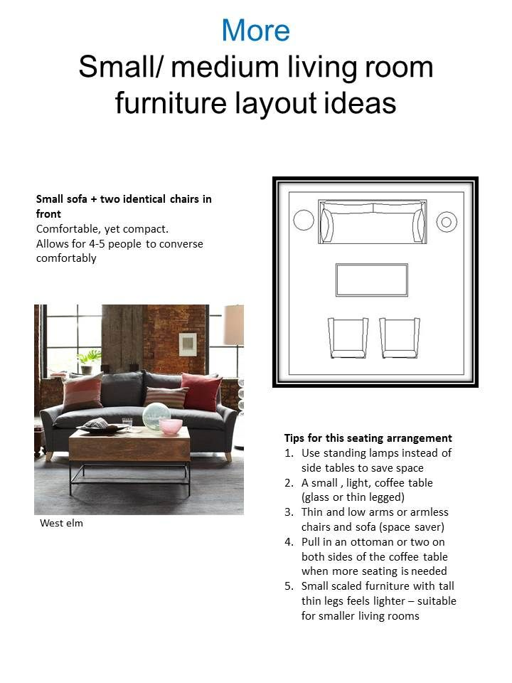 exact layout of living room! love  Pin it! another Idea for most popular living room seating arrangements for a small to medium living room. comfortable conversational arrangement. Vered Rosen Design