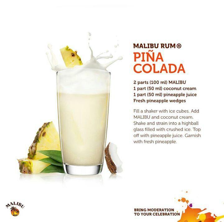 Malibu Rum Pina Colada...in honor of National Pina Colada Day.