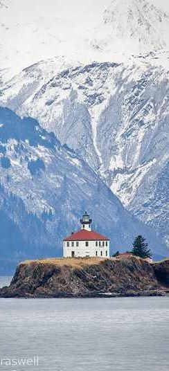 Eldred Rock Lighthouse in Lynn Canal in south east Alaska. It is beautiful.