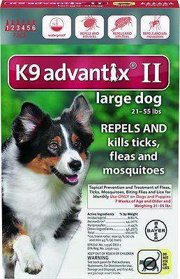 K9 Advantix II Flea & Tick Treatment for Large Dogs 21-55 lbs | @giftryapp