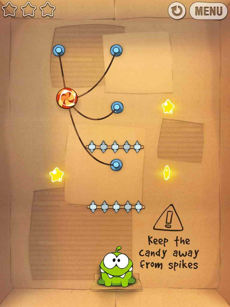 Level from Cut The Rope, iOS