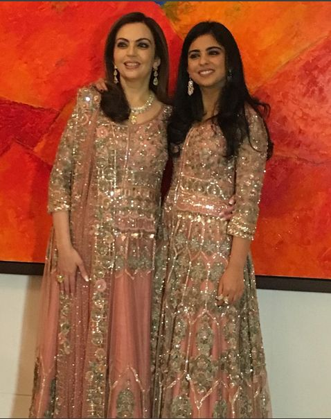 Happy Birthday NITA AMBANI .Dress Designed By MANISH MALHOTRA