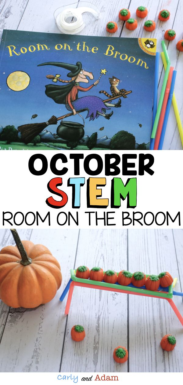 Room on the Broom Halloween Read Aloud STEM Activity