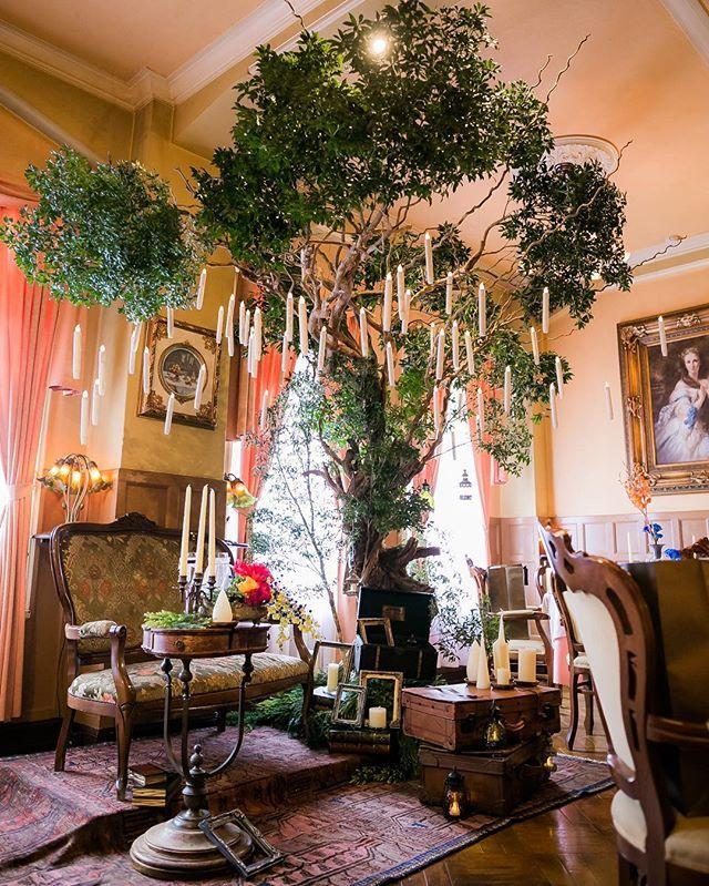 アンティーク調のソファやテーブルでヨーロピアンな高砂♡結婚式の高砂おしゃれ一覧♡ウェディング・ブライダルの参考に♡