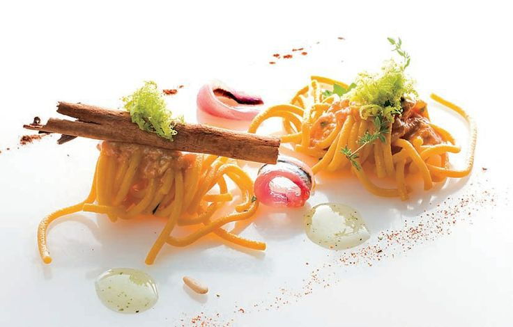 Spaghetti with tuna roe,marinated anchovies and lemon sauce with Chef Franco Ciccio Sultano!
