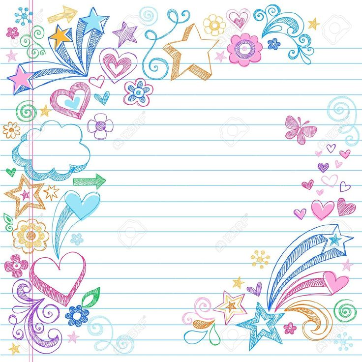 Universal image intended for cute printable notebook paper