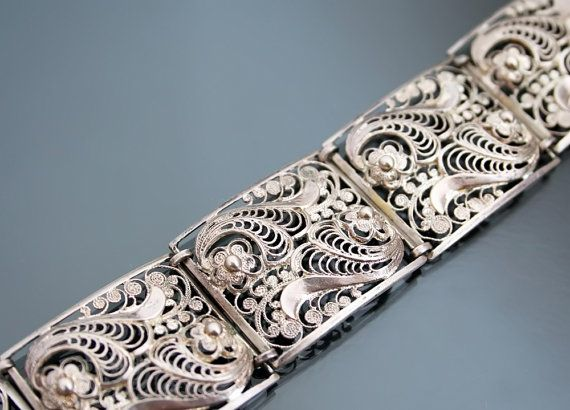 Hey, I found this really awesome Etsy listing at https://www.etsy.com/listing/261064641/art-deco-835-silver-filigree-panel-24g