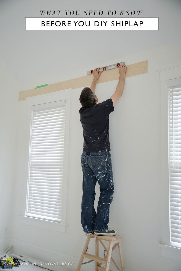 What You Need To Know Before You DIY Shiplap | Rambling Renovators | Bloglovin'