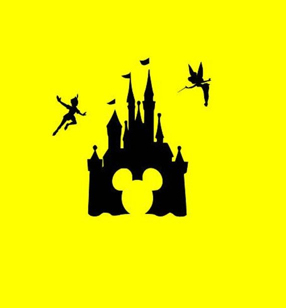 Disney Mickey Castle SVG Cutting Files Silhouette SVG, DXF and Eps vinyl cut Files, for Cameo and Cricut Explore machines instant download
