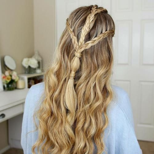 easy hair styles for hair best 25 braided half updo ideas on wedding 4028