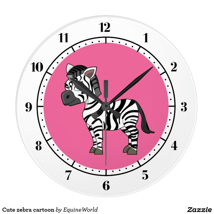Cute zebra cartoon clocks