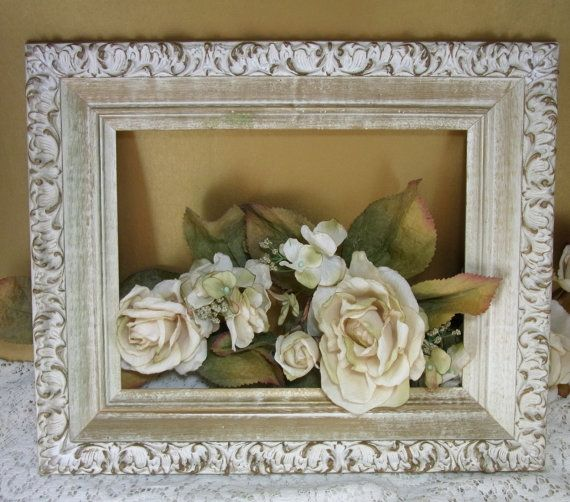 Shabby Cottage Picture Frame  Wedding Prop by WhatnotsAndFancifuls