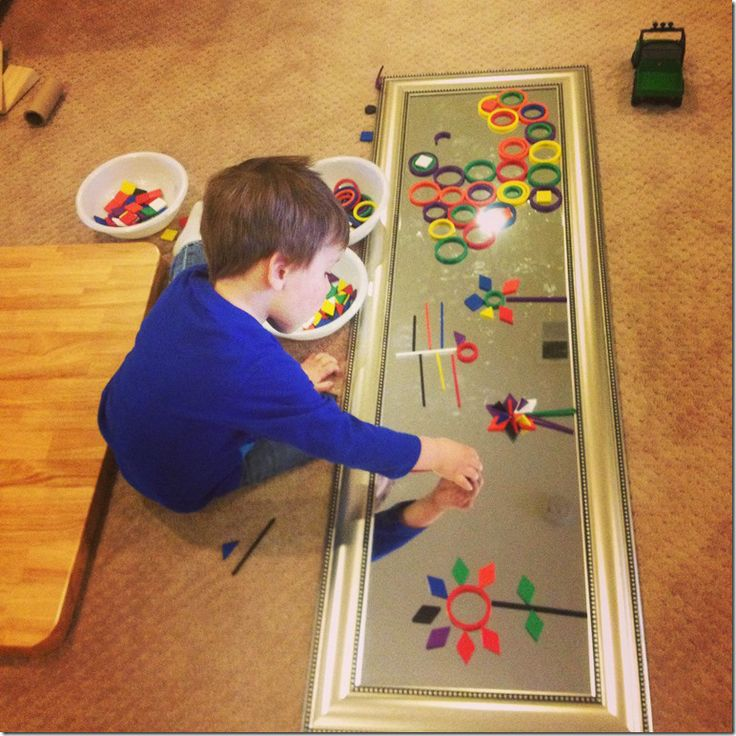 mirrors and spielgaben; preschool math; shapes, preschool shapes