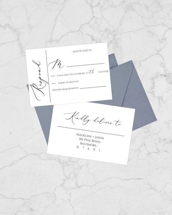 Celebrate It Place Cards Templates Best Of Modern Calligraphy Rsvp Wedding Cards Printable Weddin Rsvp Wedding Cards Place Card Template Wedding Response Cards