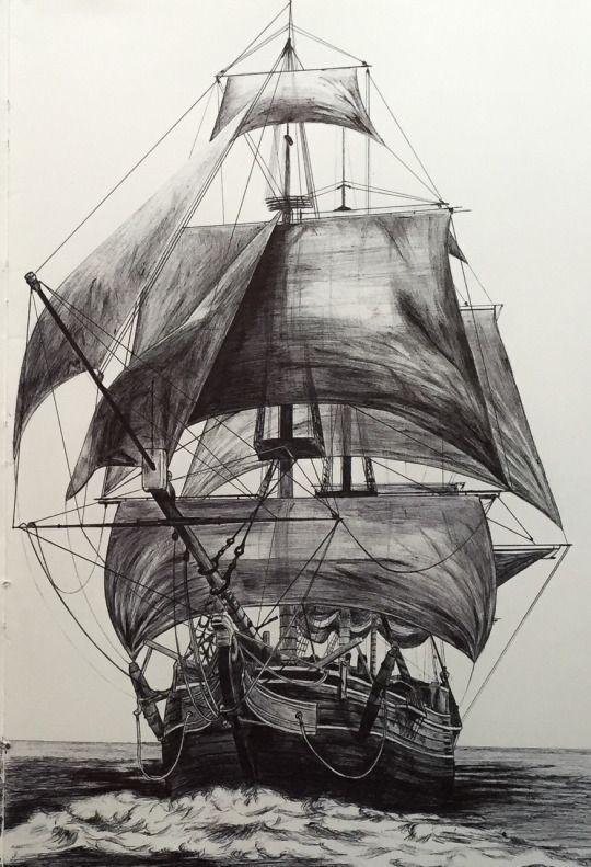 Segelschiff bleistiftzeichnung  69 besten BARCOS E CARAVELAS Bilder auf Pinterest | Piratenschiffe ...