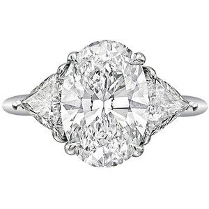 Beautiful oval cut diamond engagement ring