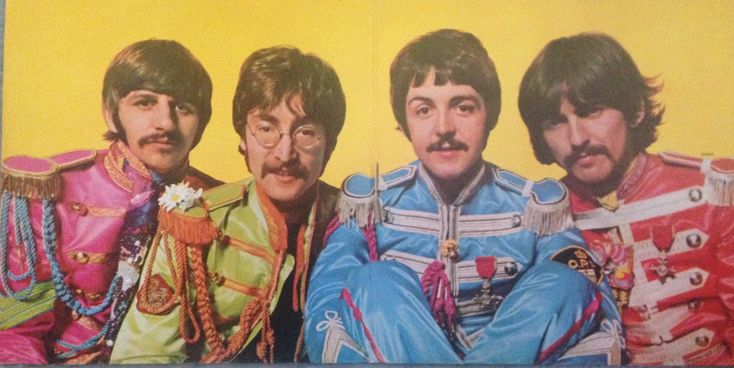 Double inside album cover of original Sgt Pepper's LHCB
