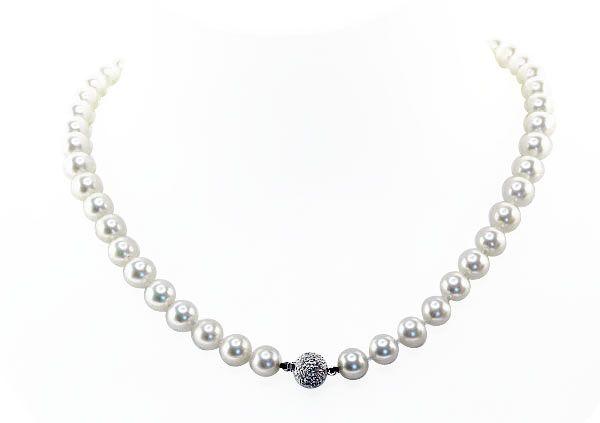 Akoja-Perlenkette mit 8mm Perlen, Diamant-Kugelschließe 0,33ct Weissgold  Akoja-Perlenkette mit 8mm Perlen, Diamant-Kugelschließe 0,33ct Weissgold Akoja-Perlenkette mit 8mm Perlen, Diamant-Kugelschließe 0,33ct Weissgold Akoja-Perlenkette mit 8mm Perlen, Diamant-Kugelschließe 0,33ct Weissgold Akoja-Perlenkette mit 8mm Perlen, Diamant-Kugelschließe 0,33ct Weissgold Akoja-Perlenkette mit 8mm #Perlen, #Diamant-Kugelschließe 0,33ct Weissgold Ladylike #schmuck #vintage #perle