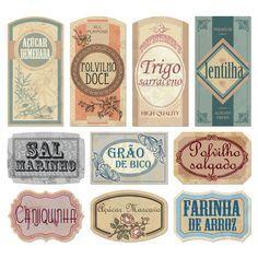 Olhem que legal essa dica do blog da Mari: Etiquetas vintage para potes de alimentos!!! Uma fofura né?