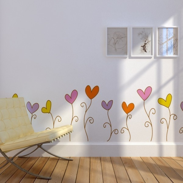 Love Flowers Decal Stickers For Your Wall I Mirror I Cabinet. $80.00, Via  Etsy Part 60