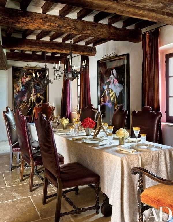 displayed in the dining room are denise de la rue photographs of matadors the chandeliers - Million Dollar Decorators