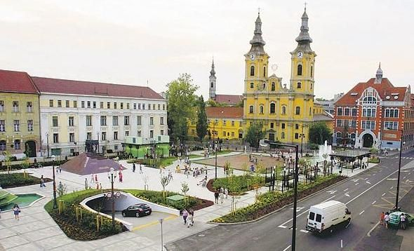 My old highschool is the building on the left . Miskolc, Hungary