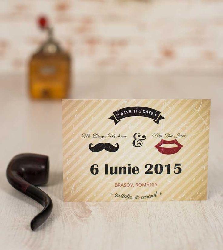 Save the Date - Moustache & Lips   Invitatii si accesorii pentru evenimentele tale speciale