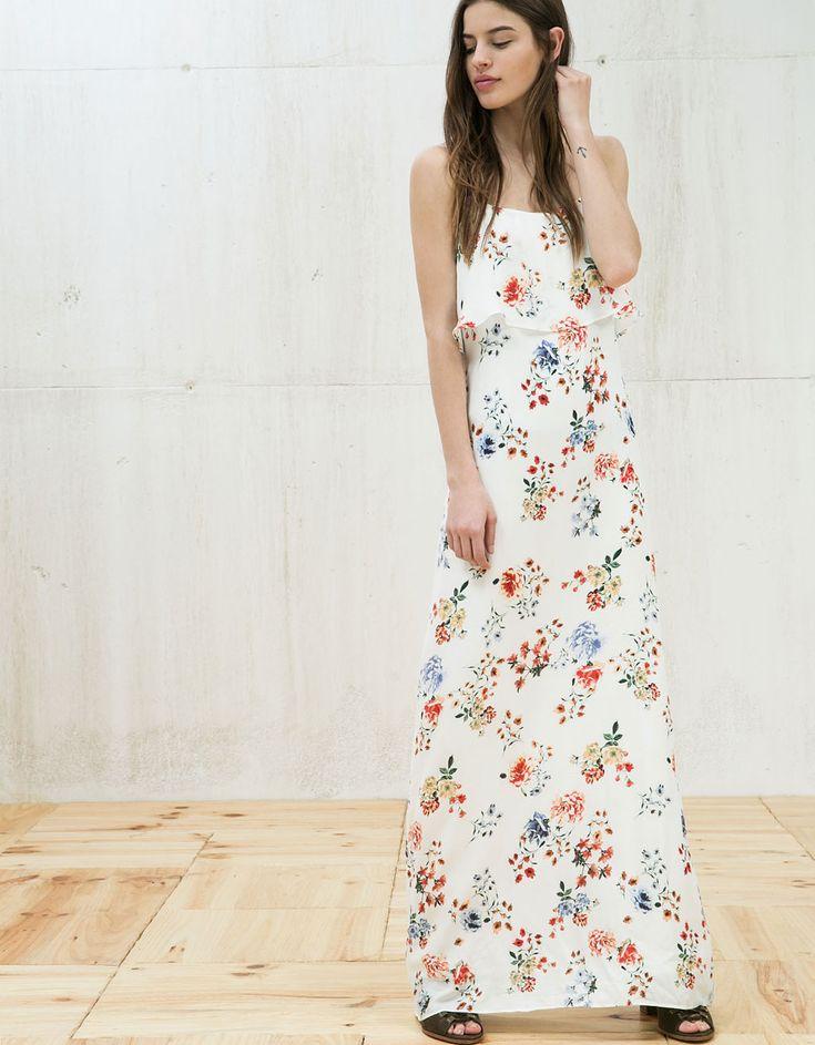 Maxi dress white cheap polaroid