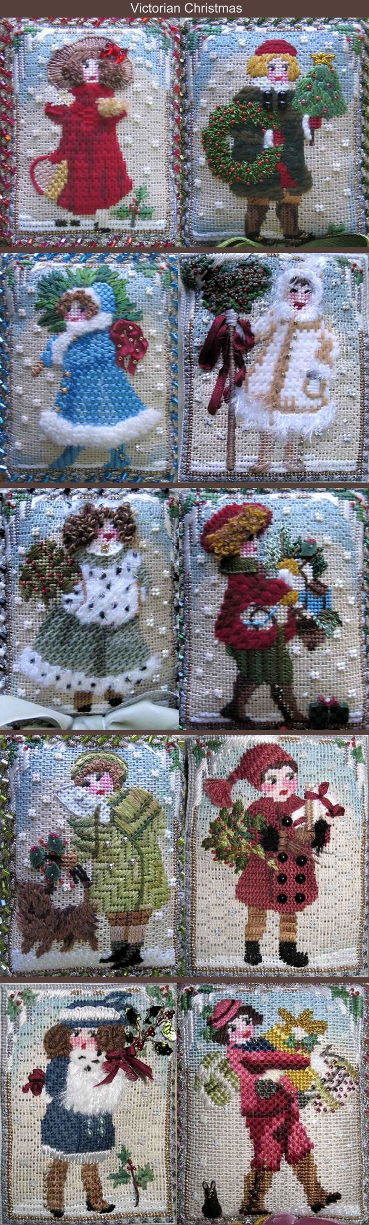 Sally Anne and I stitched these and wrote stitch guides for them. Love the vintage look
