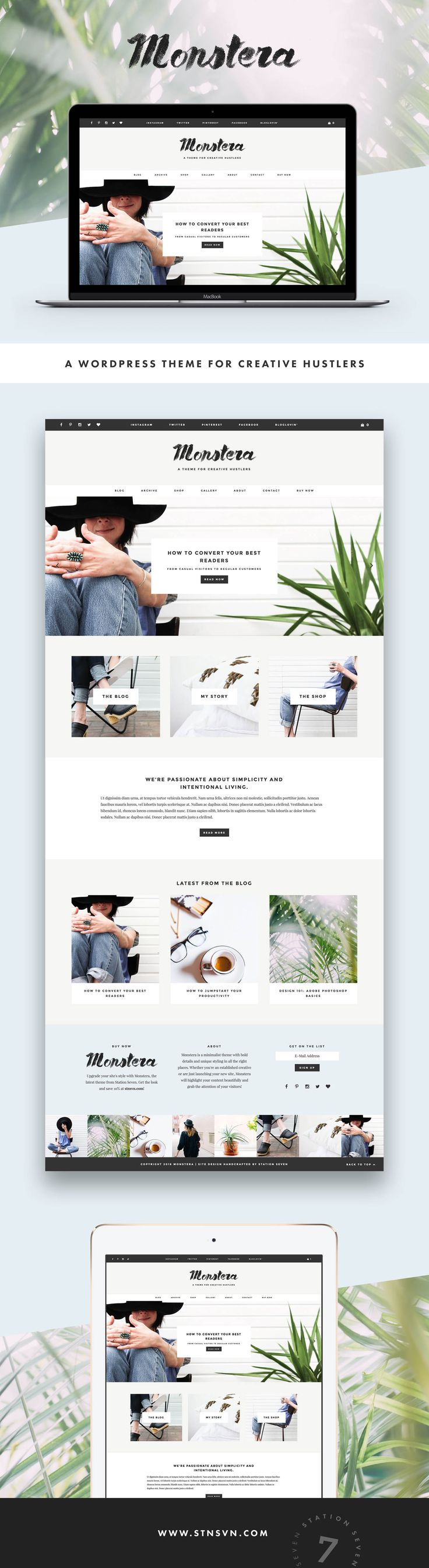 Monstera - Premium WordPress Theme from Station Seven