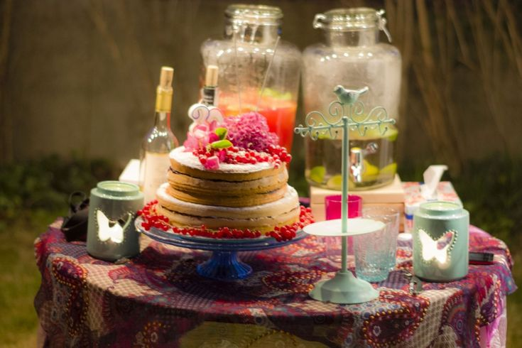 boho style outdoor party