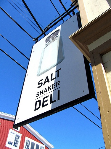 I love this little Deli...The Salt Shaker Deli in Lunenburg, Nova Scotia- They have great smoked seafood chowders....you have to try it at least once!
