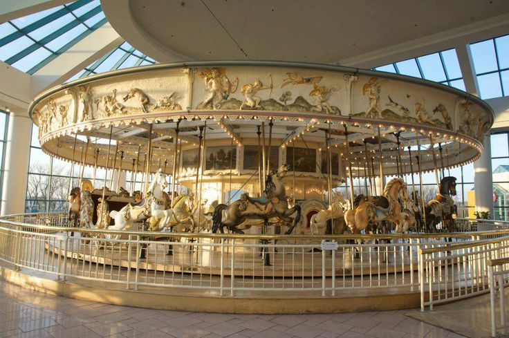 The original carousel from Roseland Amusement Park in Canandaigua - now at the Destiny Mall in Syracuse...Con Man and I have rode this!!