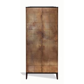 Oberon Cabinet  Transitional, MidCentury  Modern, Resin  Composite, Metal, Storage by Black And Key