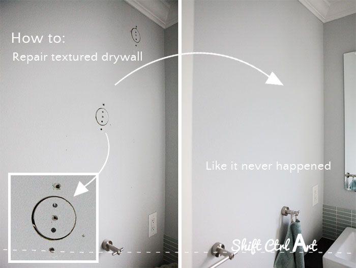 textured drywall repair like it never happened 1
