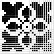 Square 11 | Free chart for cross-stitch, filet crochet | Chart for pattern - Gráfico