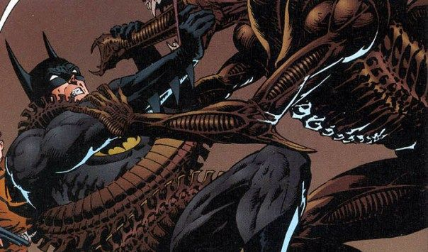 """Batman vs Aliens"" (1997) Bernie Wrightson #DarkHorseComics #Aliens #Batman #DDComics"