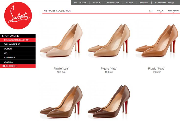 """A Counter-Example to """"Nude""""=White (thx @ afuturemd and Shermel S!) http://us.christianlouboutin.com/us_en/shop-online-3/the-nudes.html"""