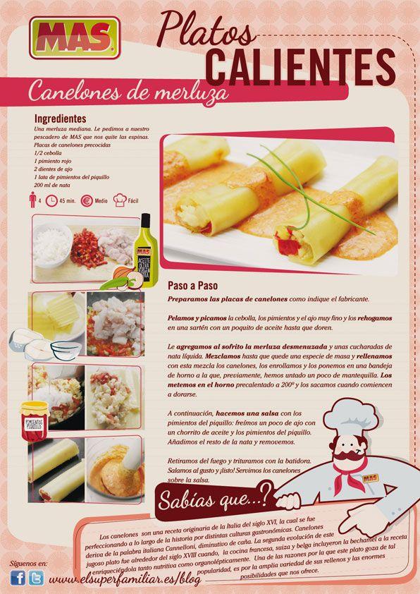 ¿Hacemos unos deliciosos #canelones de #merluza? #Receta #InfoReceta #Gastronomia
