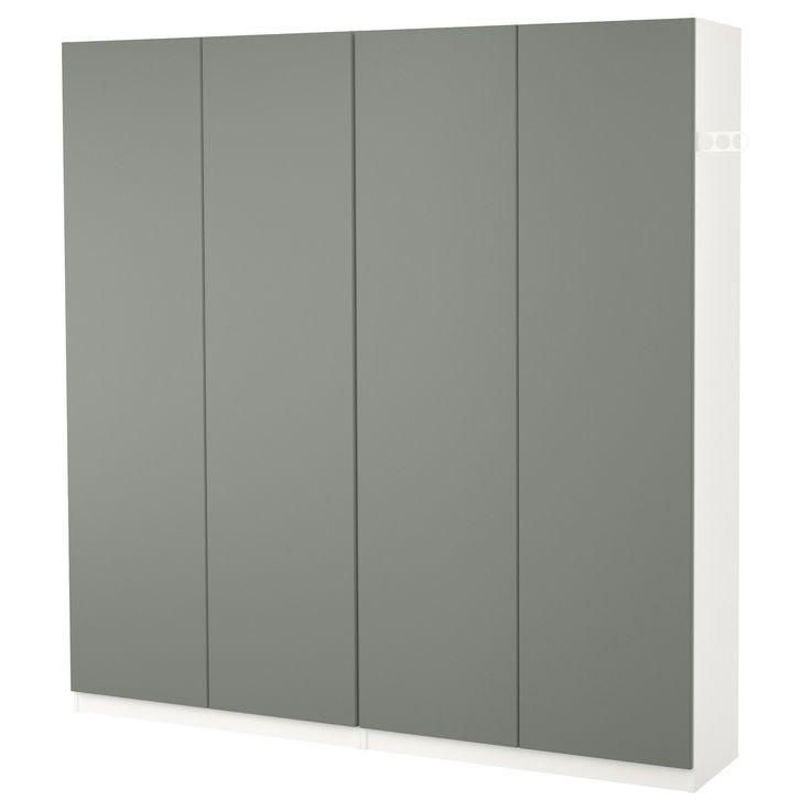 Ikea Pax Garderobe Weiss Reinsvoll Grau Grun Pax
