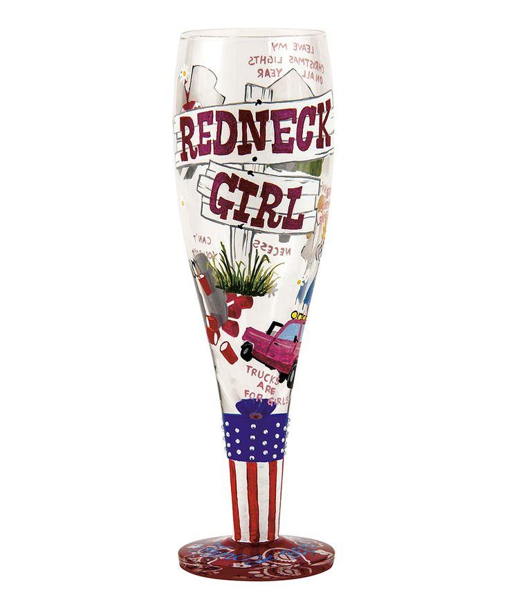 'Redneck Girl' Pilsner Glass