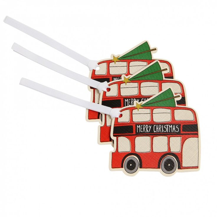 London bus gift tags - set of 5