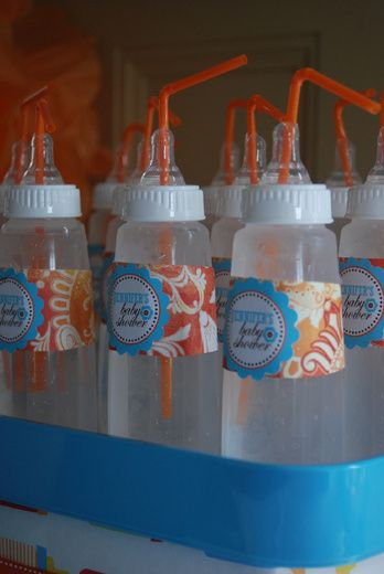 Orange and Turquoise Baby Shower Party Ideas