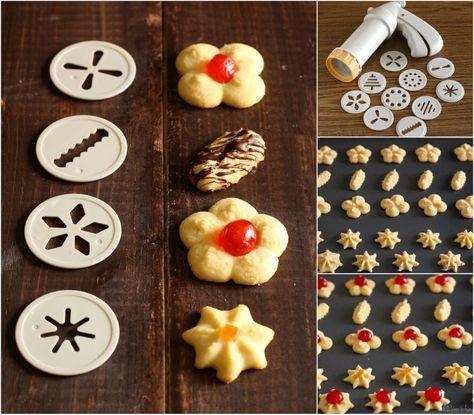 Come preparare i Biscotti con la sparabiscotti. Una comoda ricettina per realizzare dei biscotti al burro perfetti e buonissimi e qualche consiglio utile.