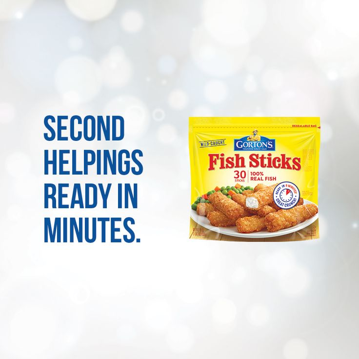 Looks like 2017 won't be the year we stop bragging about how perfectly delicious and convenient our Crunchy Fish Sticks are. … Trust Gorton's to provide you and your family with delicious seafood. Fish you can make quickly and incorporate into easy recipes. Fish to keep you healthy.
