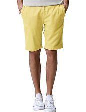NWT Match Mens Chino Shorts Regular Fit Flat Front Cotton LIGHT YELLOW Size 29