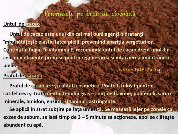 Frumuseţe pe bază de ciocolată