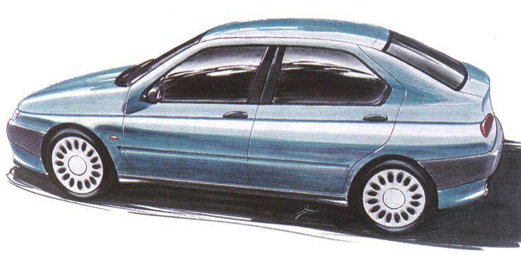 OG   1995 Alfa Romeo 146   Design sketch