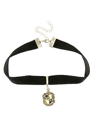 Harry Potter Hufflepuff Black Velvet Choker,